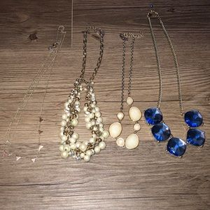 Set of 4 statement necklaces